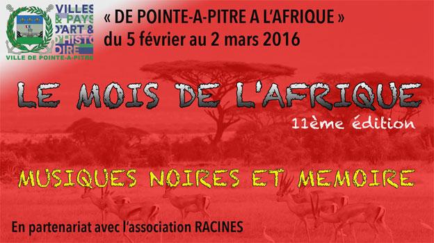 « De Pointe-à-Pitre à L'Afrique », du 28 janvier au 6 mars 2016