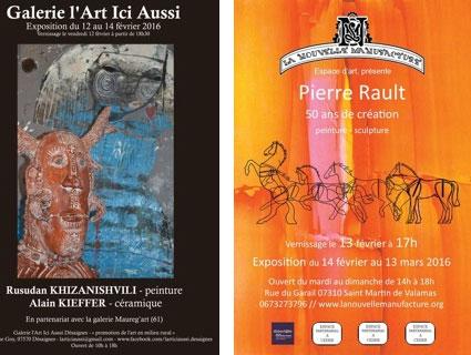 Week-end Flash peinture, à Desaignes, Ardèche, le 12 février 2016