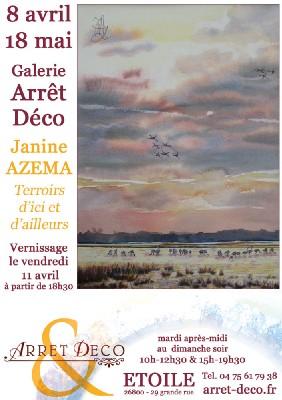 Etoile sur Rhône (26). Janine AZEMA & Barbara HUNZIKER à la Galerie Arrêt Déco. 8 avril - 18 mai
