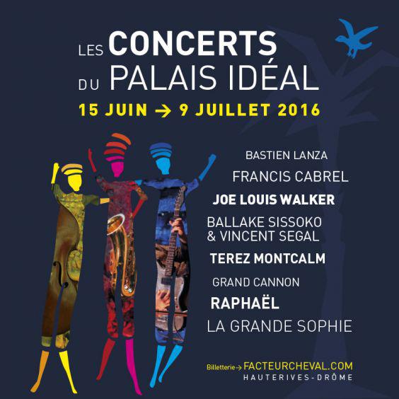 Découvrez l'affiche des concerts d'été au Palais Idéal d'Hauterives, Drôme