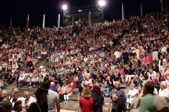 8 500 spectateurs à chaque soirée, une vraie performance © Pierre Aimar
