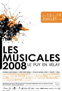 Le Puy en Velay, 35e édition des Musicales du Puy en Velay, festival de musiques latines dans le cadre exceptionnel de la haute ville. Du 12 au 19 juillet 2008