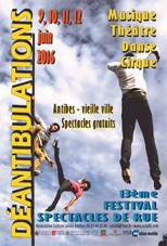 Festival déantibulations à Antibes du 9 au 12 juin 2016
