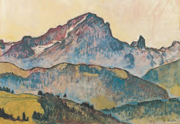 Ferdinand Hodler, Le Grand Muveran, 1912, Huile sur toile, 53 x 75 cm, Von der Heydt-Museum, Wuppertal, © Medienzentrum, Antje Zeis-Loi