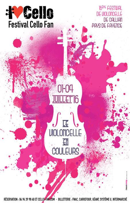 Festival Cello Fan : chantez les violoncelles en Pays de Fayence du 1er au 4 juillet 2016