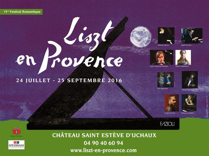 Bienvenue chez Liszt en Provence, Château Saint-Estève, Uchaux (Vaucluse), du 24 juillet au 25 septembre 2016