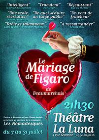 « Le Mariage de Figaro » par Vincent Caire - Les Nomadesques, Festival Avignon Off