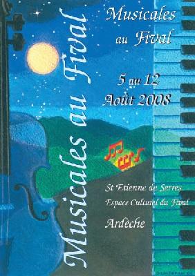 Saint-Etienne de Serres, Ardèche, Musicales au Fival du 5 au 12 août 2008.