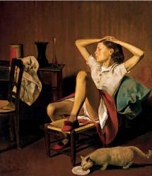 Balthus. Thérèse rêvant. 1938. Huile sur toile 150 x 130 cm.