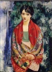 Kisling. Jeune Polonaise (Femme au châle), 1928. Musée d'Art et d'histoire du Judaisme.