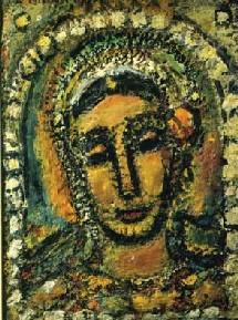 Georges Rouault, Sarah, 1956, huile sur toile 55 x 42 cm. En exposition jusqu'au 4 juillet à la galerie Schmit, rue Saint-Honoré, Paris