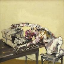 Paul Rebeyrolle, Le bon sens, 1987. Huile sur toile 180x180 cm