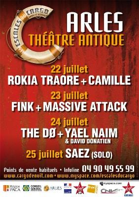 Arles, théâtre antique, Festival les escales du cargo - 4ème édition du 22 au 25 juillet 2008
