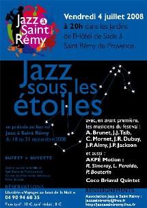 St-Rémy de Provence, jazz, Festival Jazz à Saint-Rémy. 4 juillet, concert en attendant l'édition de septembre.