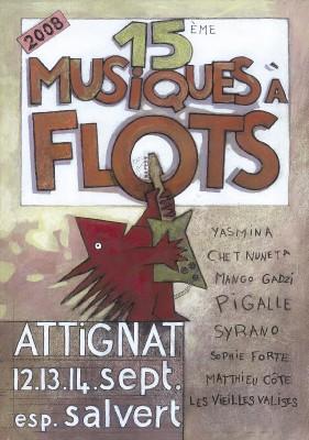 Attignat, Ain, Festival Musiques à Flots, 15e édition. Une ribambelle de talents à découvrir et à savourer du 12 au 14 septembre