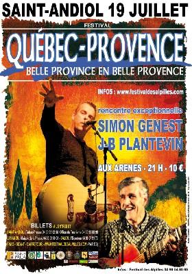 Saint-Andiol, Bouches-du-Rhône, Festival des Alpilles. Bienvenue à nos cousins de la Belle Province. 19 juillet
