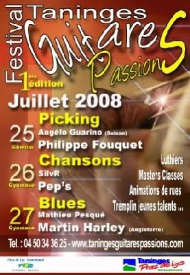 Taninges, Haute-Savoie, 1er festival de guitare.  25, 26, 27 JUILLET 2008