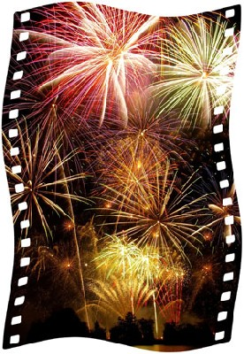 Monaco - Port Hercule, Concours international de Feux d'Artifices Pyromélodiques à Monaco. 9 et 25 juillet