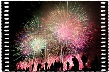Monaco - Port Hercule, Concours international de Feux d'Artifices Pyromélodiques à Monaco. 11 et 22 août