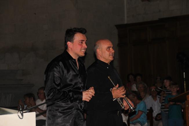Vicente Campos à la trompette et Gabriele Pezone à l'orgue ©Pierre Aimar