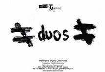 Avignon Off. Différents Duos Différents, danse, Compagnie Oufti / CREAHM - Le Théâtre Golovine (84)