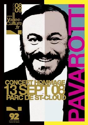 Hauts-de-Seine : Hommage à Pavarotti à l'occasion du 1er anniversaire de la mort de l'artiste.  Samedi 13 septembre à partir de 20h30