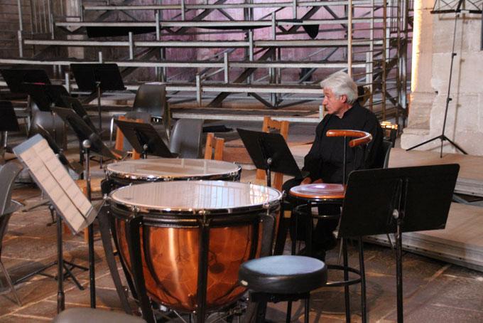 Solitude du chef d'orchestre avant le concert © Pierre Aimar