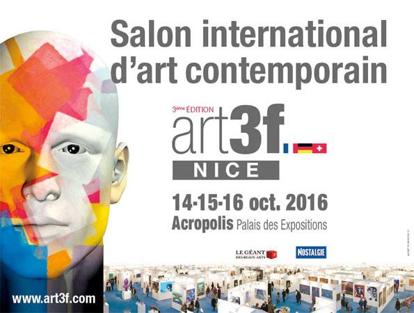 Salon d'art contemporain art3f. Du vendredi 14 octobre 2016 au dimanche 16 octobre 2016 à Nice Acropolis, Palais des expositions