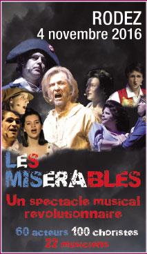 Les Misérables : un spectacle grandiose ! le 4 novembre 2016 à l'Amphithéâtre de Rodez