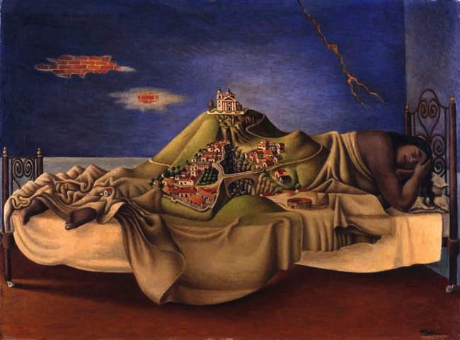 Antonio Ruiz «El Corcito» (1892-1967), Le Rêve de la Malinche, 1939, huile sur masonite. Mexico, Galería de Arte Mexicano  Galería de Arte Mexicano ©Photo INBA/Museo Nacional de Arte