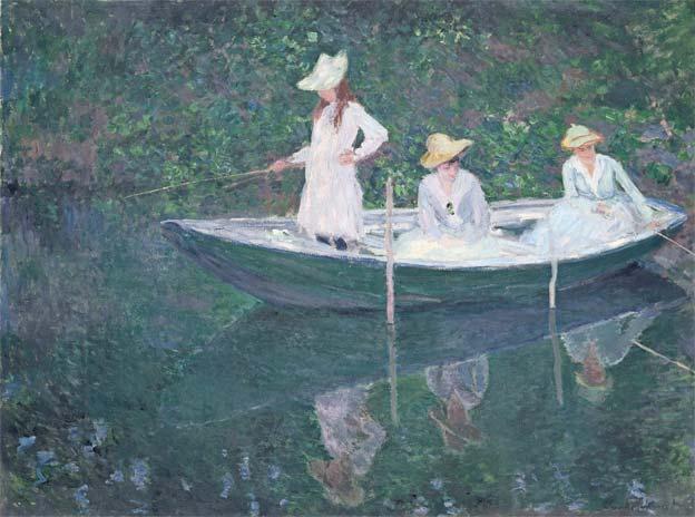 Claude Monet En Norvégienne, 1887 Huile sur toile, 97,5 x 130,5 cm Musée d'Orsay, Paris, Legs de Princesse Edmond de Polignac, 1947  © RMN-Grand Palais (Musée d'Orsay) / Hervé Lewandowski