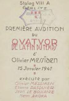 Messiaen, un génie au travail, exposition à la Bibliothèque nationale de France, Paris, du 17 janvier I5 mars 2017