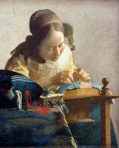 Johannes Vermeer, La Dentellière © 2005 Musée du Louvre / Angèle Dequier