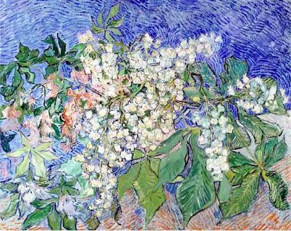 Vincent van Gogh, Branches de marronniers en fleurs, 1890 Huile sur toile, 73 x 92 cm, F 820. Collection Fondation E. G. Bührle