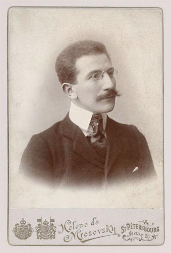 Portrait de Léon Bakst à Saint-Pétersbourg, 1890. Photographie. BnF