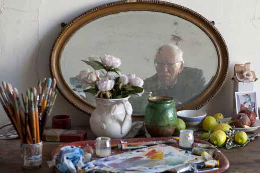 Jacques Truphémus dans son atelier, mars 2016 © Michel Djaoui