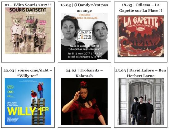 """Festival """"Quand Les Souris Dansent..."""" du 16 au 25 mars 2017 à Lyon"""