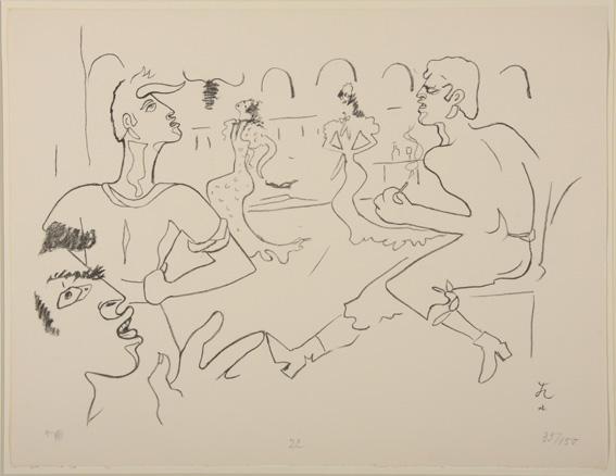 Jean Cocteau Etude de danseurs (Barcelone) Lithographie sur papier, 1956-75 50 x 65 cm
