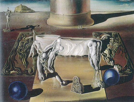 Salvador Dalí, Dormeuse, cheval, lion invisibles, 1930, huile sur toile, 50,2 x 65,2 cm, Centre Pompidou, Paris, © Salvador Dalí, Fundació Gala- Salvador Dali / ADAGP, Paris, 2017