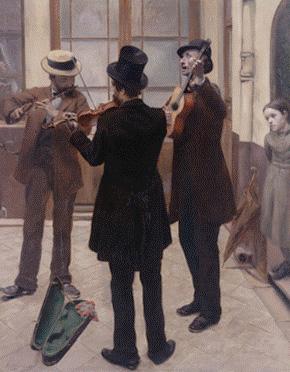Albert Bartholomé (1848-1928). Les Musiciens, dit aussi Musiciens dans une cour © Petit Palais / Roger-Viollet