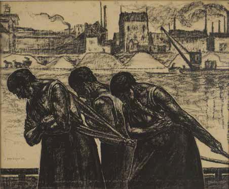 Haleuses, 1912 fusain huilé sur papier, incisions Saint-Émilion, collection particulière