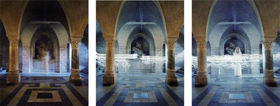 Série «De Anima Lapidum», Lux in tenebris, (triptyque) © Estelle Lagarde / agence révélateur
