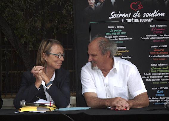Françoise Nyssen et Richard Martin © DR