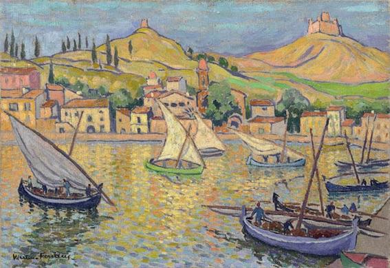 Jacques Martin Ferrière, (1893-1972), Retour de pêche à Collioure, Huile sur toile 50 x 73 cm, Collection particulière. © Adagp, Paris, 2017