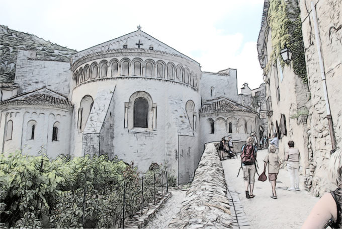 L'abbaye de Sain-Guilhem le Désert © Pierre Aimar