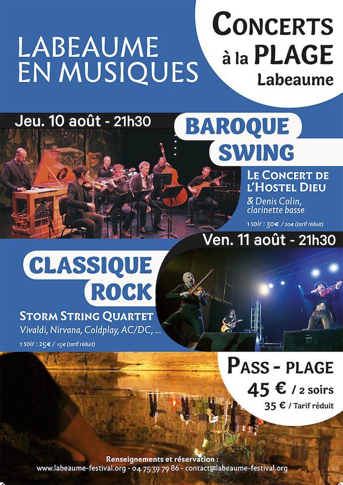 Dernière semaine du festival Labeaume en Musiques : offre spéciale « Un pass-plage » pour les 10 et 11 août 2017