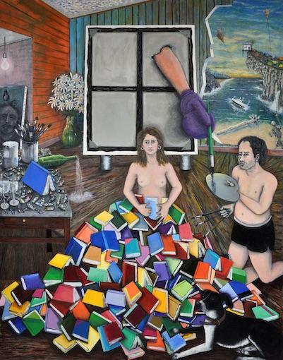 Eric Corne, Le Contre-Ciel, 2015-2017. Huile sur toile, 285 x 250 cm.