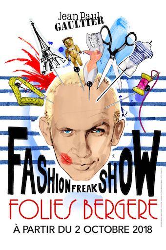 Jean Paul Gaultier : Fashion Freak Show aux Folies Bergère à partir du 2 octobre 2018