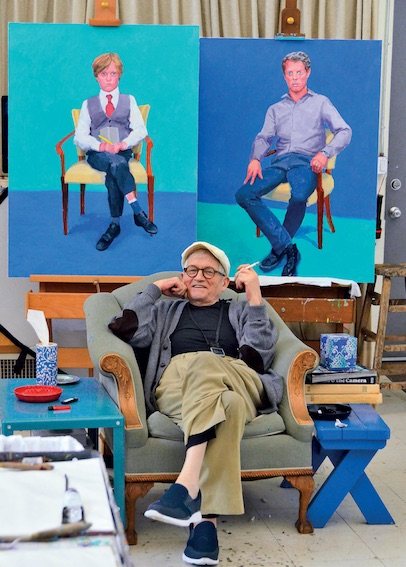 David Hockney in his Studio, Los Angeles, March 1st 2016.  © David Hockney. Photo credit: Jean-Pierre Goncalves de Lima.