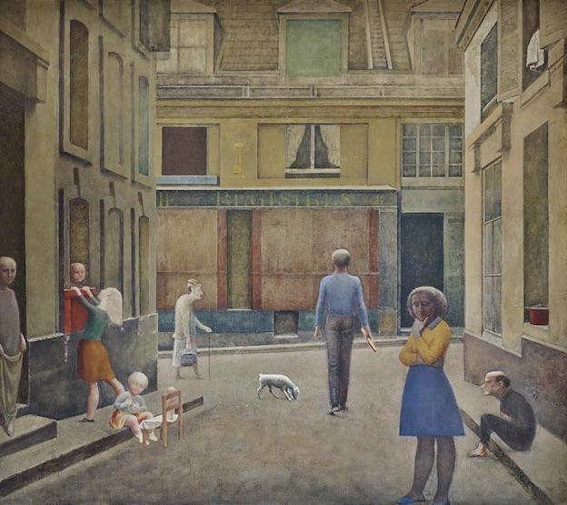 Balthus, passage du commerce-Saint-André, 1952–1954, Huile sur toile Collection privée © Balthus. Photo : Mark Niedermann
